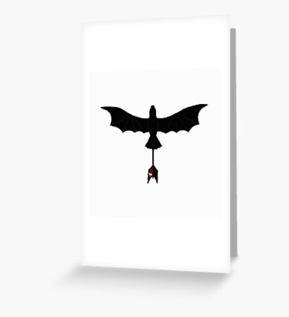 Black Toothless Greeting Card