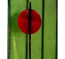 Red on Green - Perris CA Photographic Print