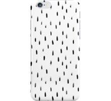 black brush print pattern, hand-drawn iPhone Case/Skin
