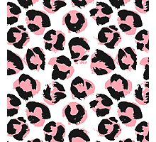 Pink leopard Photographic Print