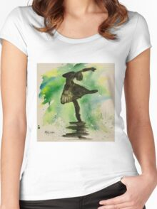 TINY DANCERS IN COLOUR 1 Women's Fitted Scoop T-Shirt