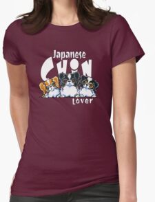 Japanese Chin Lover (Dark) Womens Fitted T-Shirt