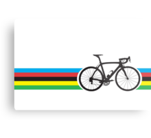 Bike Stripes World Road Race Champion Metal Print