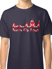 Shut Up Legs Red Polka Dot Mountain Profile Classic T-Shirt