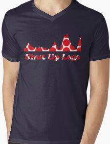 Shut Up Legs Red Polka Dot Mountain Profile Mens V-Neck T-Shirt