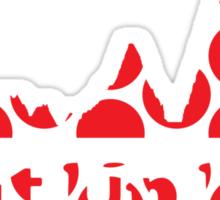 Shut Up Legs Red Polka Dot Mountain Profile Sticker