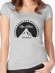 Alpe d'Huez (Black) Women's Fitted Scoop T-Shirt
