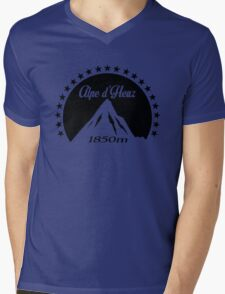 Alpe d'Huez (Black) Mens V-Neck T-Shirt