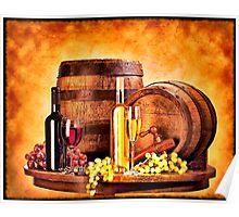 """""""Wine Barrel Still Life"""" Poster"""