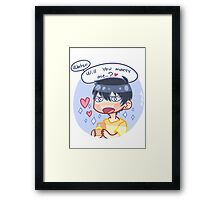 Marry me, water. Framed Print