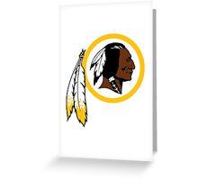 Redskins logo Greeting Card