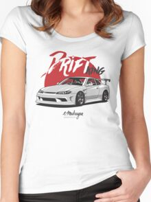 Nissan Silvia S15 (white) Women's Fitted Scoop T-Shirt