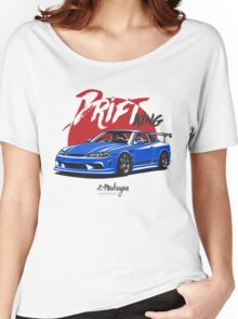 Nissan Silvia S15 (blue) Women's Relaxed Fit T-Shirt