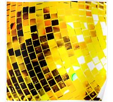Gold Funky Disco Ball Poster