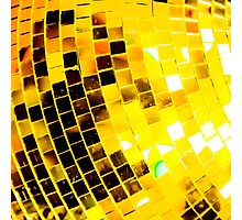 Gold Funky Disco Ball Photographic Print