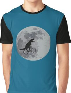 Tyrannosaurus rex bicycle moon Graphic T-Shirt