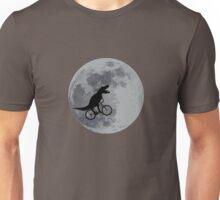 Tyrannosaurus rex bicycle moon Unisex T-Shirt