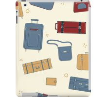 Seamless Travel Pattern with Baggage and Suitcases iPad Case/Skin