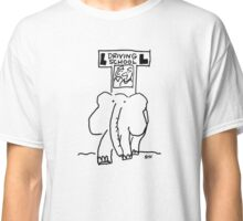 Elephant driving school with learner driver Classic T-Shirt