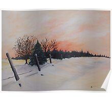 Sunrise in Winter Poster