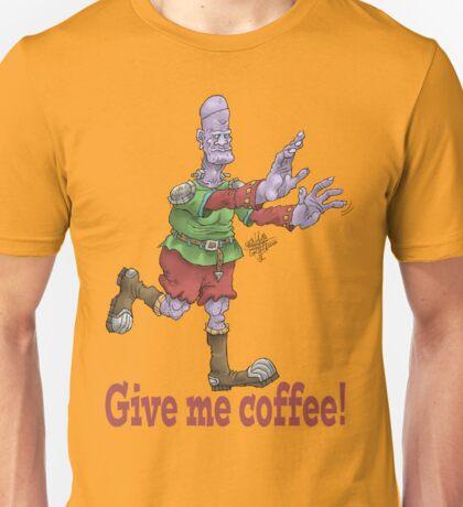 Give me coffee, cartoon illustration of frankenstein. Unisex T-Shirt
