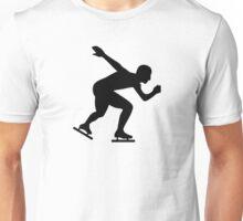 Speed skating skater Unisex T-Shirt