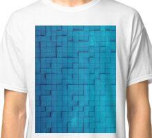 Pixel pattern blue Classic T-Shirt