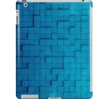 Pixel pattern blue iPad Case/Skin