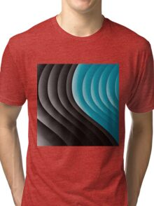 Abstract waves 10 Tri-blend T-Shirt
