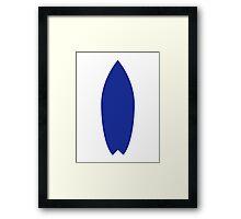 Blue surfboard Framed Print