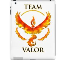 Team Valor With Flame Effect iPad Case/Skin