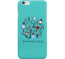 Barber and Hairdresser Tools Set iPhone Case/Skin