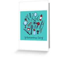 Barber and Hairdresser Tools Set Greeting Card