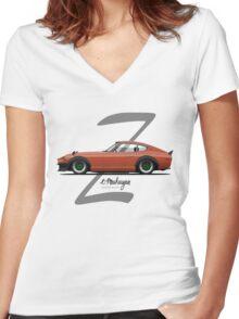 Datsun 280Z (orange) Women's Fitted V-Neck T-Shirt