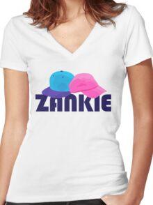 Zankie Women's Fitted V-Neck T-Shirt