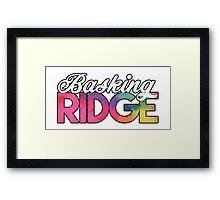 Basking Ridge Tie Dye Design Framed Print