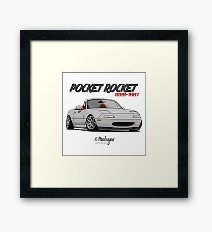 Mazda MX-5 Miata (white) Framed Print