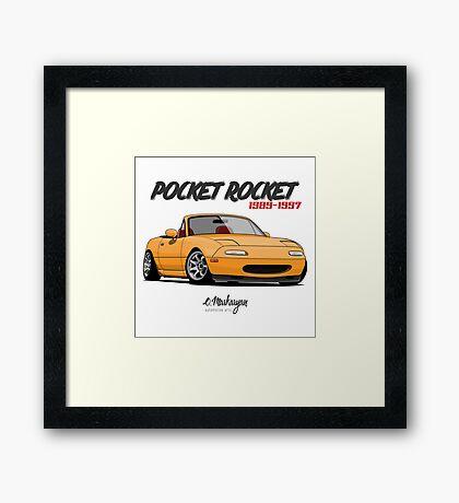 Mazda MX-5 Miata (yellow) Framed Print