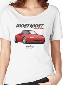 Mazda MX-5 Miata (red) Women's Relaxed Fit T-Shirt
