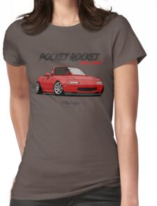 Mazda MX-5 Miata (red) Womens Fitted T-Shirt