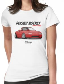 Mazda MX-5 Miata (red) Womens Fitted T-Shirt