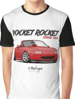 Mazda MX-5 Miata (red) Graphic T-Shirt