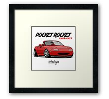 Mazda MX-5 Miata (red) Framed Print