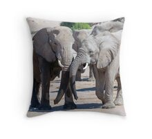 Loxodonta Love. Throw Pillow