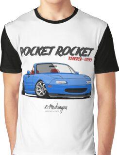 Mazda MX-5 Miata (blue) Graphic T-Shirt