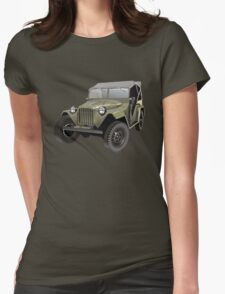 Retro army jeep Womens Fitted T-Shirt