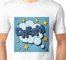 Bubble with Expression Dream in Vintage Comics Style Unisex T-Shirt