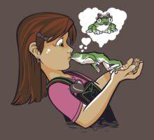 frog prince princess kiss  One Piece - Short Sleeve