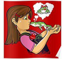 frog prince princess kiss  Poster