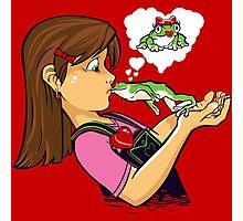 frog prince princess kiss  Photographic Print